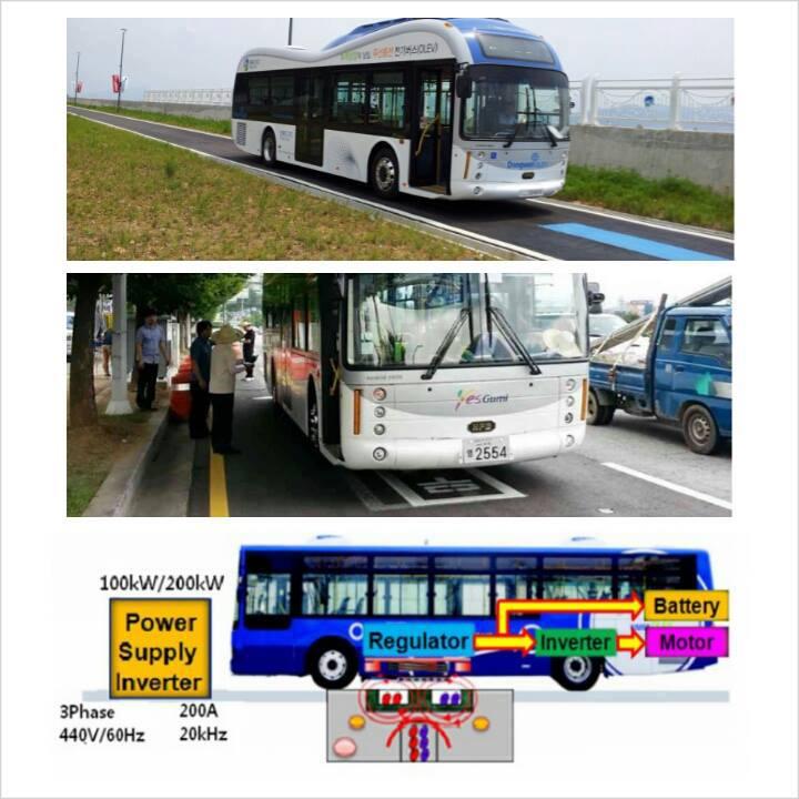 Wireless Buses รถบัสไฟฟ้าชาร์จไฟโดยถนน - 01